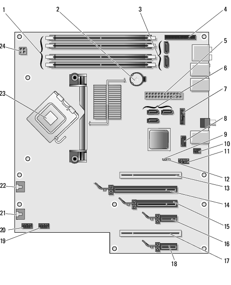 Tecnica Dell Mini Power Light Blinks Pink also Dell Xps 430 Wiring Diagrams likewise 180571762640 furthermore Motherboard Wiring Diagram Dell E520 besides Dell Motherboard Diagram. on dell dimension 8300 diagram